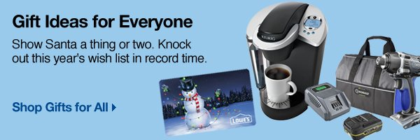 Gift card, coffee maker, drill