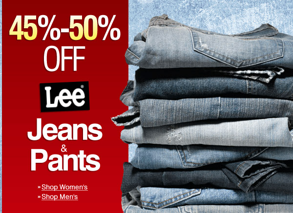 50% Off Lee Jeans & Pants -- Today & Tomorrow -- Shop Now