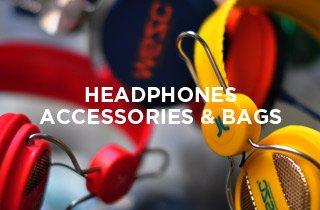 Headphones, Bags, Accessories