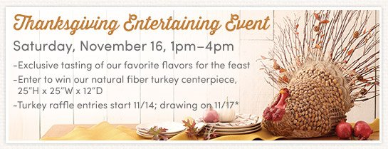 Join us on Saturday November 16th from 1pm-4pm. See Details