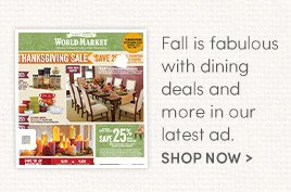 Fall is fabulous with dining deals and more in our latest ad. Shop Now
