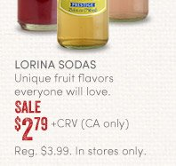 Sale $2.79 + CRV (CA only)