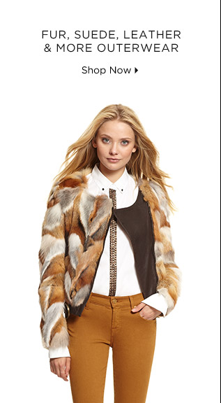 Fur, Suede, Leather & More Outerwear