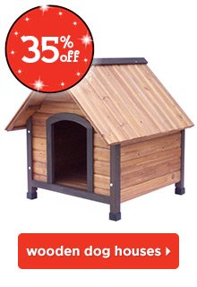 35% off wooden dog houses