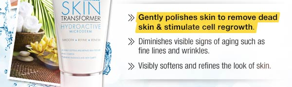 Gently polishes skin to remove dead skin and stimulate cell regrowth. Diminish visible signs of aging such as fine lines and wrinkles. Visibly softens and refines the look of skin.