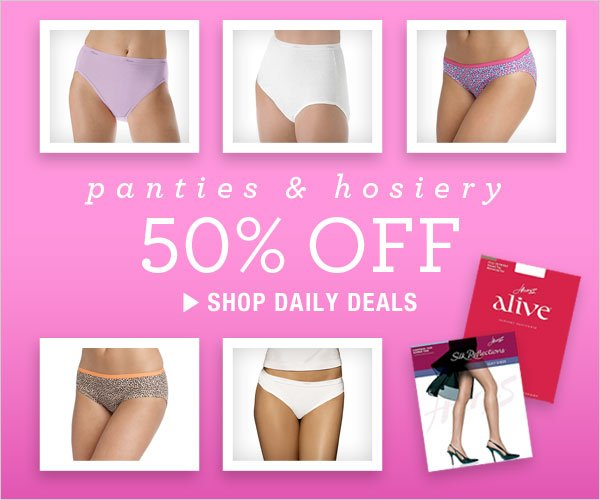 50% off Panties & Hosiery