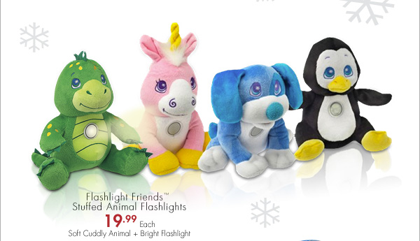 Flashlight Friends™  Stuffed Animal Flashlights 19.99 Each Soft Cuddly Animal + Bright Flashlight