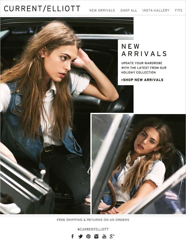 NEW ARRIVALS UPDATE YOUR WARDROBE WITH THE LATEST FROM OUR HOLIDAY COLLECTION >SHOP NEW ARRIVALS