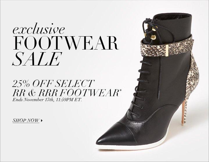 Footwear Sale*