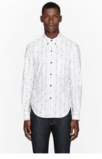 BAND OF OUTSIDERS White fly strip button-down shirt for men