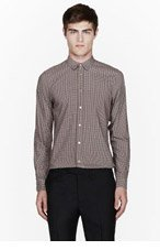 PAUL SMITH Grey & red patterned shirt for men