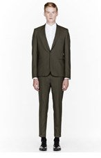 PAUL SMITH Olive green suit for men