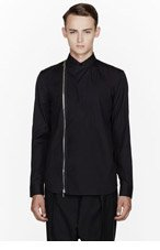 GIVENCHY Black Zippered & Buttoned shirt for men