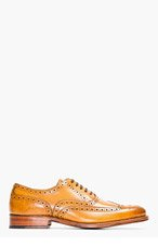 GRENSON Tan Leather Dylan Wingtip Brogues for men