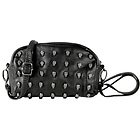 Womens Small Black Skull Studded Bag
