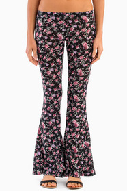 Floral A-Flare Pants 33