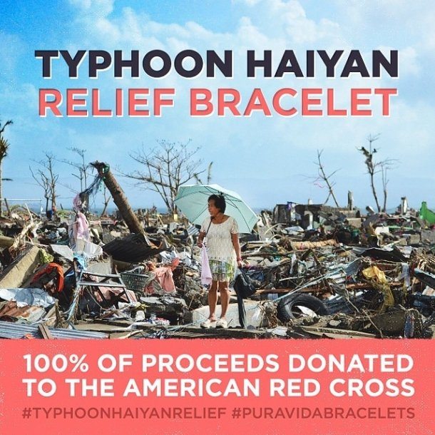Typhoon Haiyan Relief bracelet is NOW AVAILABLE! 100% DONATED!