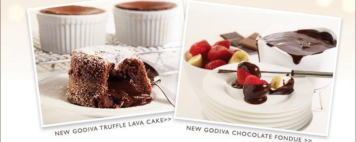 NEW GODIVA TRUFFLE LAVA CAKE | NEW GODIVA CHOCOLATE FONDUE