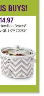 14.97 Hamilton Beach® 3-qt. slow cooker