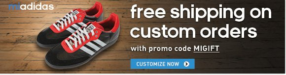 Customize your adidas shoes and get Free Shipping  »