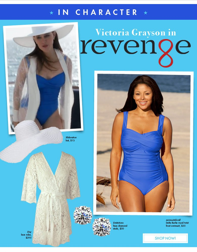 in character - Victoria Grayson in Revenge - shop now