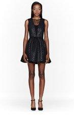 MSGM Black Neoprene Rococo embossed Dress for women