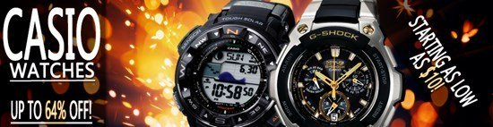 Up to 64% off Casio Watches…