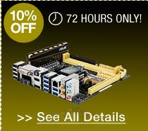 72 hours only! 10% off select mini itx monterboards!*