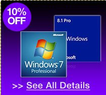 10% off all microsoft windows OEM operating systems!*