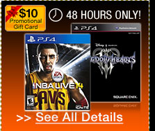 48 hours only! Free $10 promotional gift card w/ select video game pre-orders!*