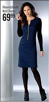 Houndstooth Knit Dress $69.99