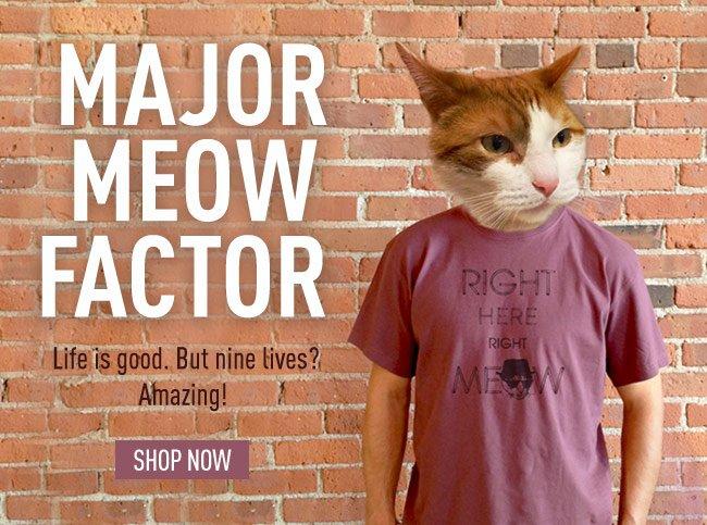 Major Mewo Factor - Shop Cat Tees