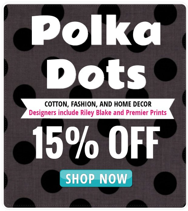 15% Off Polka Dot Sale