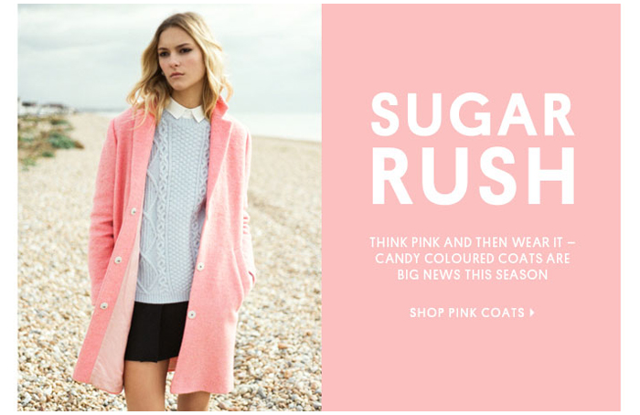 SUGAR RUSH - Shop Pink Coats