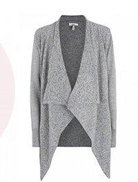 Draped wool cardigan