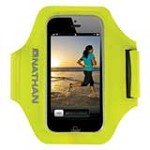 Nathan 4920NVY SuperSonic Arm Band Carrier for iPhone 5, Hi-Viz Yellow