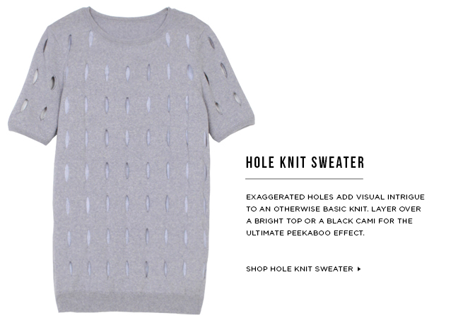 Hole Knit Sweater