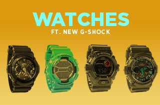 Watches Ft. New G-Shock