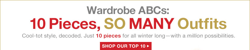 Wardrobe ABCs: 10 Pieces, SO MANY Outfits | SHOP OUR TOP 10