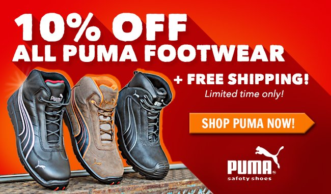 Save 10% On All Puma Footwear