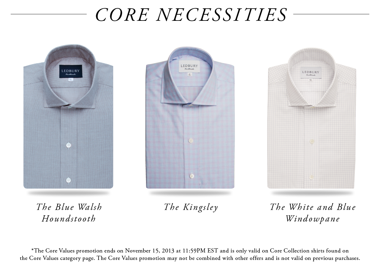The Blue Walsh Houndstooth, The Kingsley, and The White and Blue Windowpane