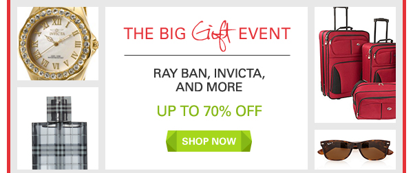 Ray Ban, Invicta, and More