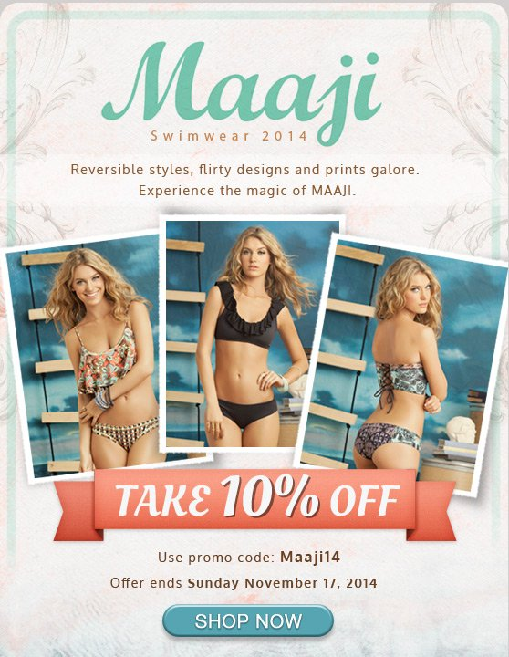 10% Off Through Sunday - New Mix & Match Styles from MAAJI