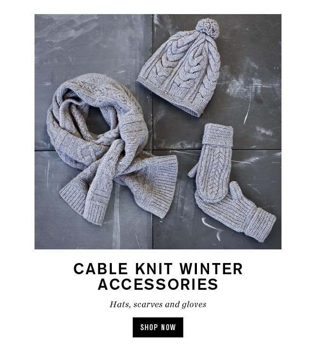 cable knit winter accessories
