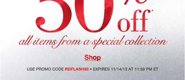 We are sorry so we are offering you an Extra 50% off! Use RDFLASH50