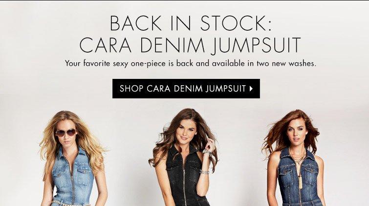 Shop Cara Denim Jumpsuit