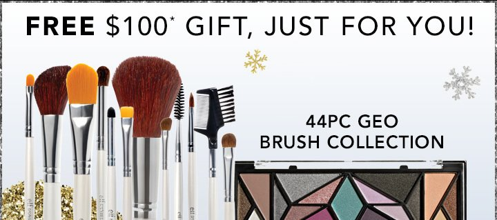 Free$100 Gift, Just For You!  44PC Geo Brush Collection