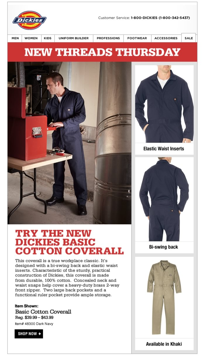 New Threads Thursday: Basic Cotton Long Sleeve Coverall
