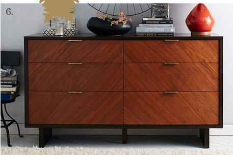 Chevron Grain 6-Drawer Dresser