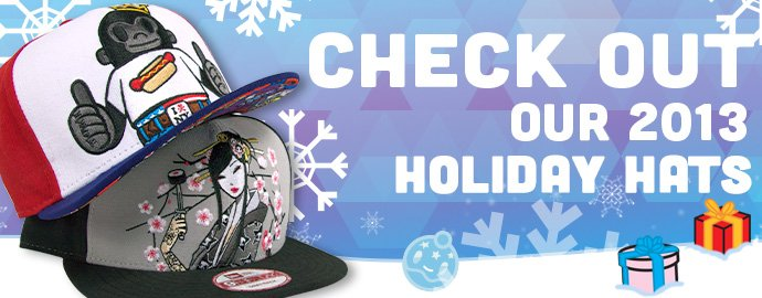 Holiday hats have arrived! Check them out in our online store now!